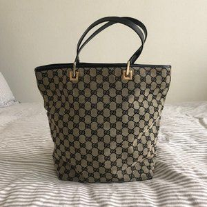 Gucci Canvas Leather Tote - GREAT condition